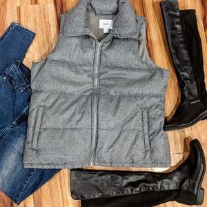 Gray Fleece Lined Vest